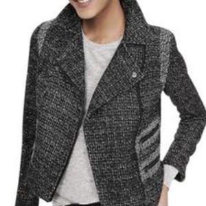 Banana Republic Moto Jacket  Black Gray size   6